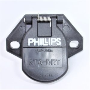 7-Way Socket Receptacle w/Clip Phillips 16-726