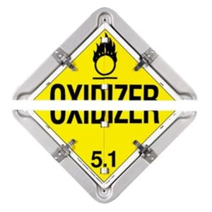 SPLIT ALUMINUM PLACARD LAB81-8SFO