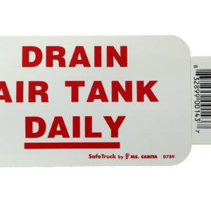 DRAIN AIR TANK DAILY