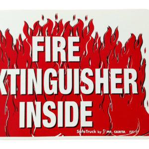 FIRE EXTINGUISHER INSIDE w/FLAMES