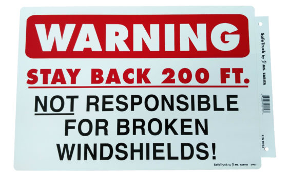 WARNING STAY BACK 200 FT. DECAL Model# D963-0
