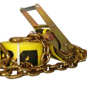 40' Long Ratchet Strap w/Chain Ends