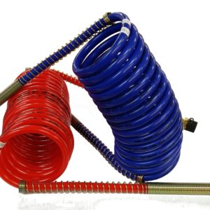 15' Coiled Air Line Set - Red & Blue LinesSet includes both Emergency & Service lines