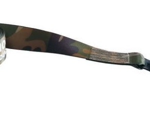 "Paramount Camouflage Winch Strap 4"" x 30' w/Flat Hooks. Must purchase in quantities of 10."