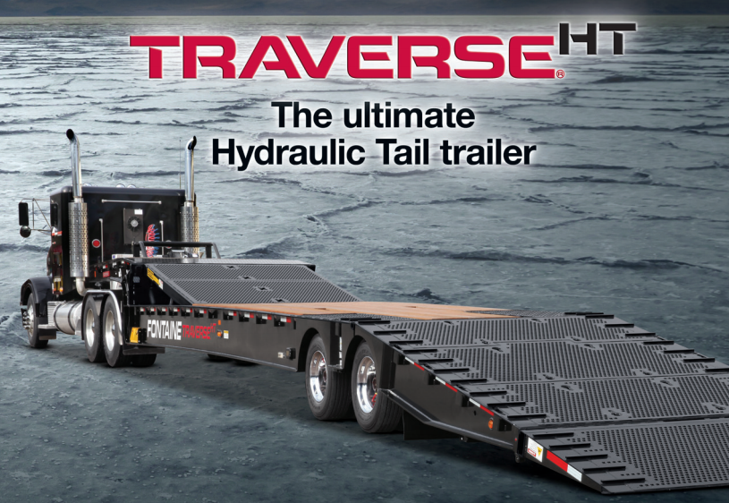 Loading fontaine traverse trailers, or any hydraulic tail trailer, has never been easier.