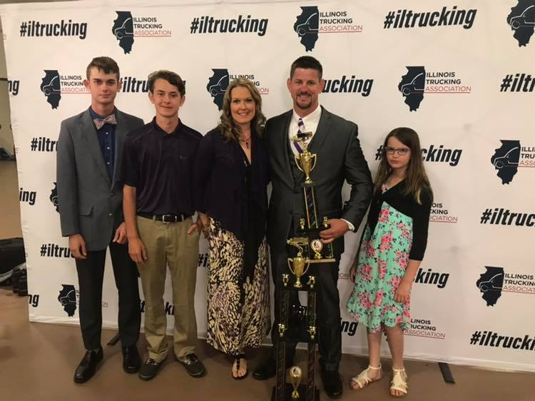 Grand Champion of ILoca Services, Inc., was proud to be the presenting sponsor of the 2019 Illinois Truck Driving Championships. Rich Fundell and his family
