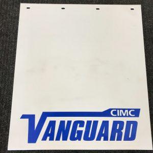 "Vanguard/CIMC Plastic Mud Flap White 30""L x 24""W"