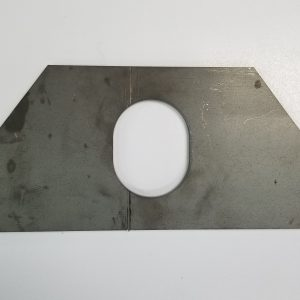 "Fontaine Trailer Slider Hole Reinforcement Plate .25""x4""x8"" 07430027"