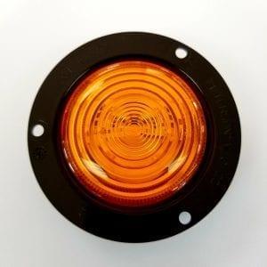 "2.5"" Amber LED Marker/Clearance Light w/ Flange PM M197FA"
